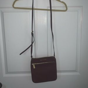 Burgundy Michael Kors Crossbody